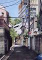 午後の路地 新宿区大京町