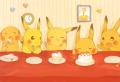 ピカチュウとケーキ