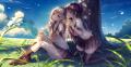 木陰の中の少女たち