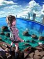 海と空と女の子